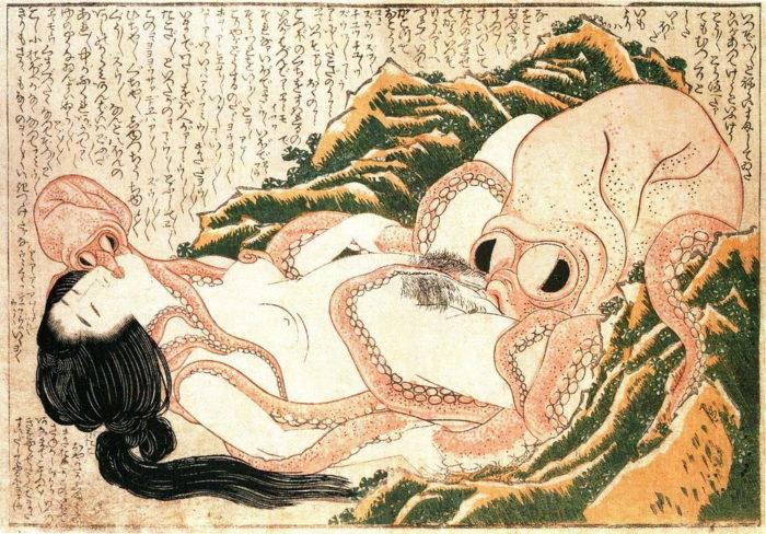 北斎 蛸と海女