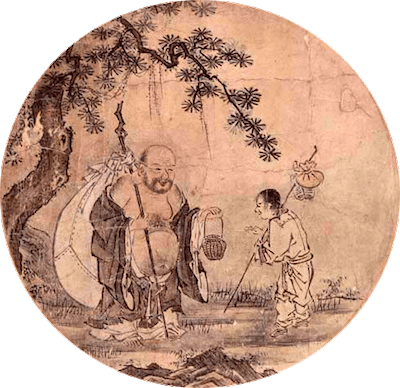 十牛図⑩「入鄽垂手(にってんすいしゅ)」