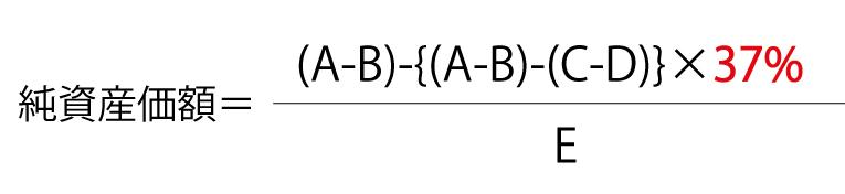 純資産価額方式の計算式